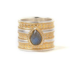 Anna Beck Labradorite Gold Plated Ring